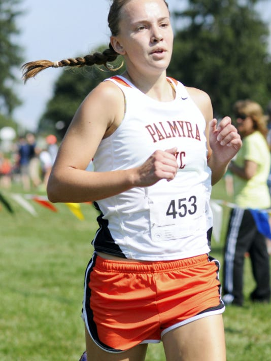Palmyra's Kelsei Bixler is headed to states following a 15th place finish in girls AAA at Saturday's District 3 meet.