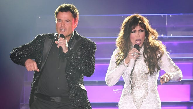 Donny and Marie Osmond perform at the Hard Rock Event Center.