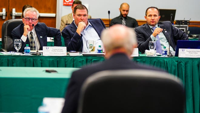 The Florida Gulf Coast University board is concerned about  having to let the Florida Board of Governors decide whether school's top leader should get a bonus of more than $350,000.