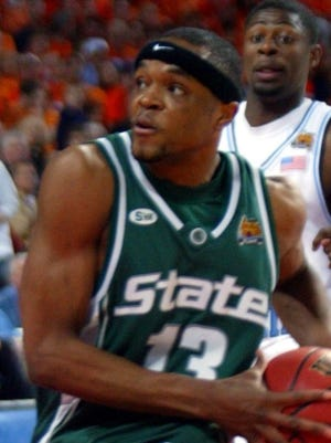 Michigan State guard Maurice Ager during the loss in the national semifinal to North Carolina on April 2, 2005.