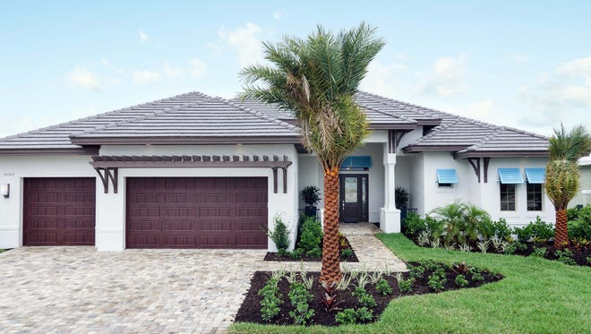 The Belvedere is a custom single-family home by Lundstrom Homes in Naples Reserve.