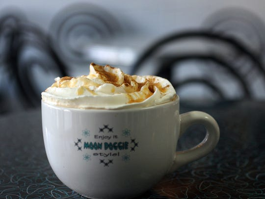 The pumpkin patch mocha latte at Moon Doggie in Maywood.