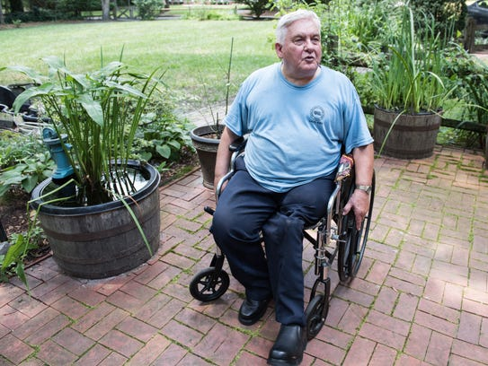 Roland Scheck, of Salisbury, at his home on Thursday,