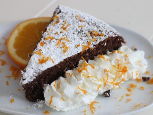 Black cardamom orange flourless chocolate cake