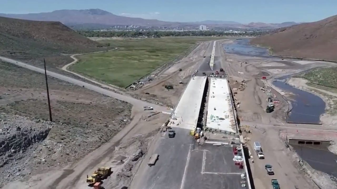 Flyover video of construction on the Southeast Connector project.