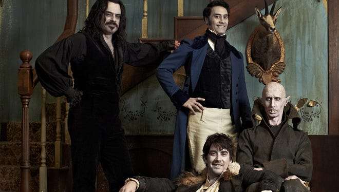 """""""What We Do in the Shadows"""" stars  (clockwise from left) Jemaine Clement as Vlad, Taika Waititi as Viago, Ben Fransham as Petyr  and Jonathan Brugh as Deacon."""