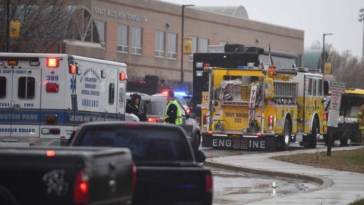 Emergency responders are at Great Mills High School