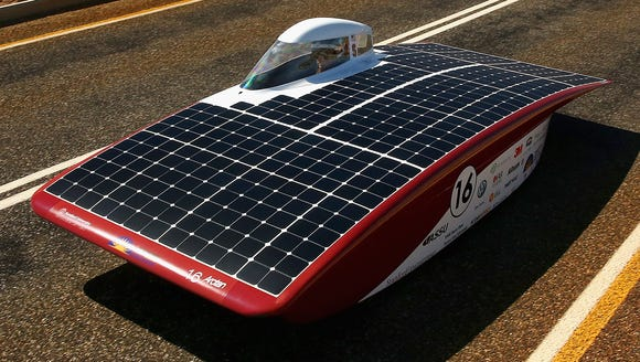 Arctan of Stanford Solar Car Project USA crosses the