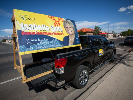 060316 Isabella Solis Truck Sign