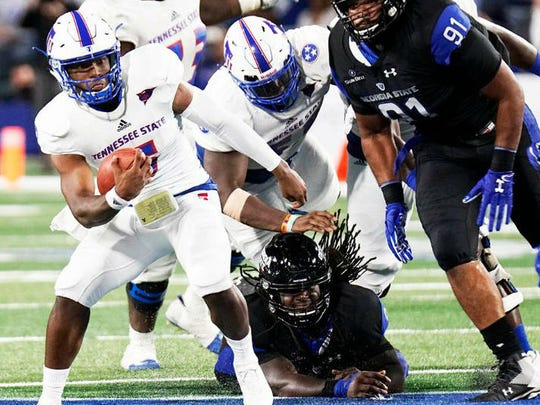 Tennessee State quarterback Treon Harris finished with