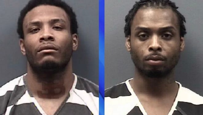 Freddie Robertson (left), 24, and Dontay Holliday, 21,  both of Chicago.