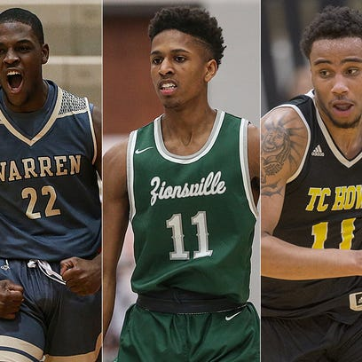 Left to right: Warren Central's David Bell, Zionsville's