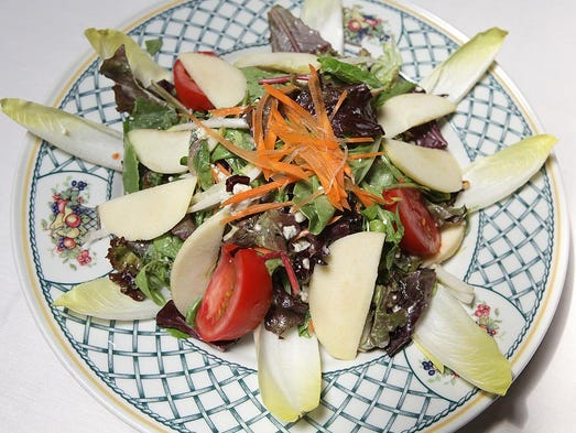 Black Forest salad featuring apples.