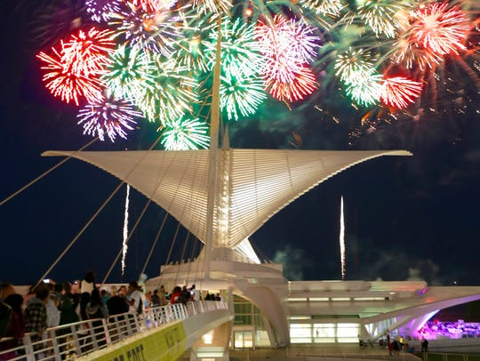 The U.S. Bank Fireworks Show light up the sky over