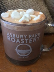 A hot chocolate at the Asbury Roastery.