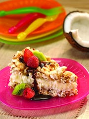 Coconut Popcorn Crunch Pie