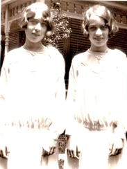 Identical twins Dolores Elstro and Dorothy Snodgrass