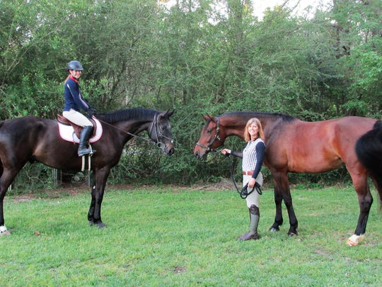 Cameron Lavespere  mounted on her Will Deux and Cindy