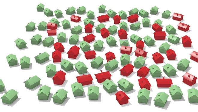 An illustration shows houses.
