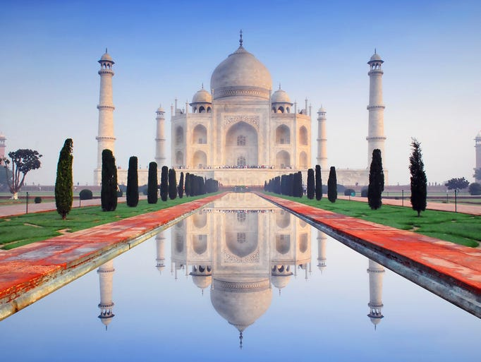 A drop in the value of the rupee has streched the buying power of a dollar, making travel to landmarks like the Taj Mahal in India cheaper for Americans.