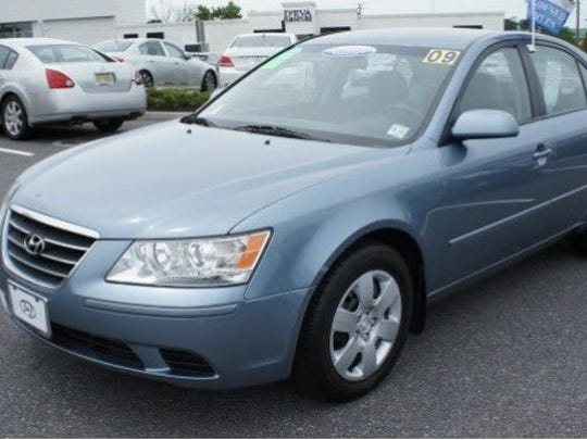 A 2009 Hyundai Sonata similar to one found near the bodies of two men in Naples last month.