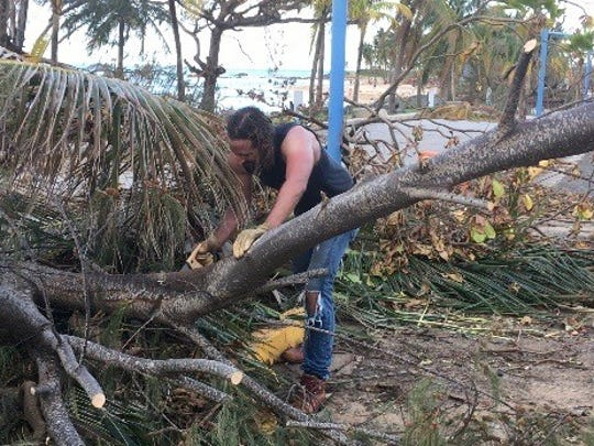 Matt Burr, a founding member and former drummer in Grace Potter and the Nocturnals, and ex-husband of Grace Potter, has been living in Puerto Rico for the last two years. After Hurricane Maria hit the island in September he's been helping clear debris.