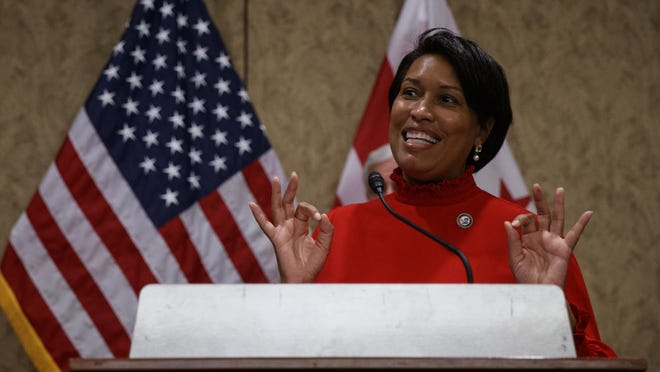 District of Columbia Mayor Muriel Bowser speaks during a news conference on Capitol Hill in Washington, Thursday, June 25, 2020, about D.C. statehood.