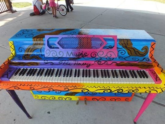 Artistically painted pianos are being placed in borough