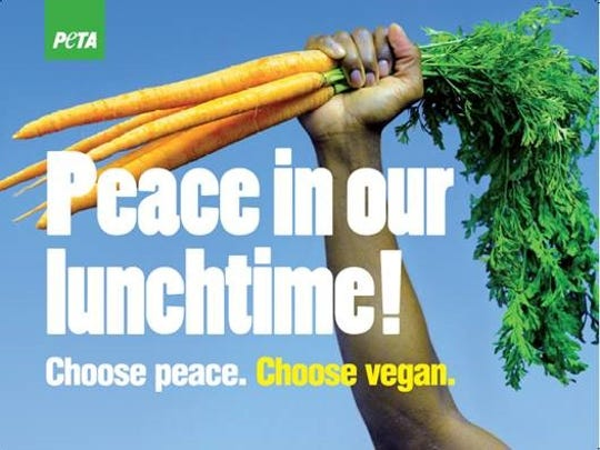 PETA plans to put up a Peace in our Lunchtime billboard