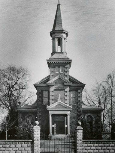 The original St. Helen Catholic Church, erected in 1898.