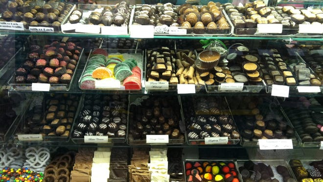 Chocolates at A Chocolate Dream in Belmont Center.