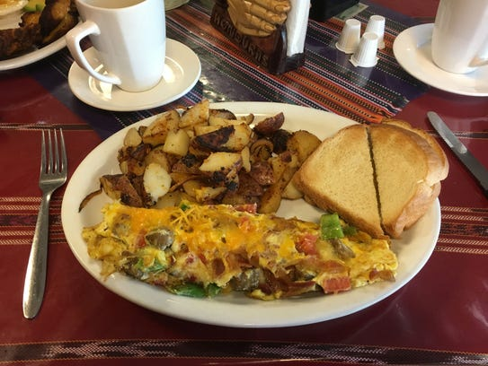 American-style omelet at Tikal Cafe