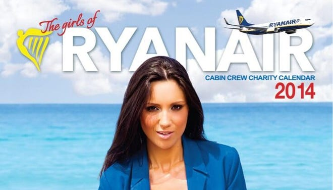"Ryanair's 2014 edition of its ""Cabin Crew Charity Calendar"" is now on sale."