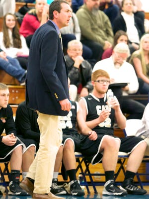 Patrick Weller, the Buffalo Gap coach who is leaving, seen here in a game in 2014.