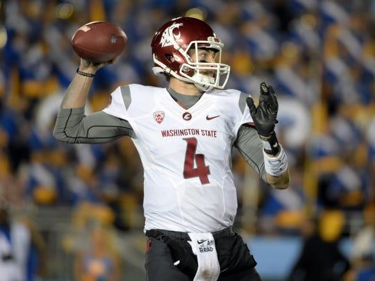 Washington State quarterback Luke Falk threw for 4,561