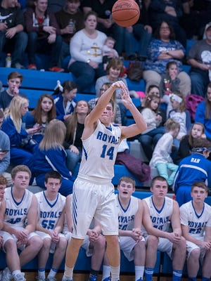 Cole Heinlen is one of the three healthy seniors the Royals have this year.