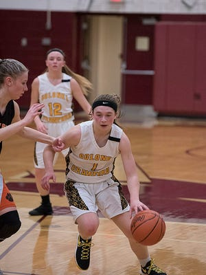 Alexus Burkhart scored 14 of her team's 31 points in the loss to Seneca East in the sectional semifinal.