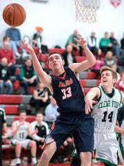 Galion's Colten Skaggs reaches for a loose ball.