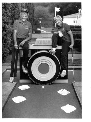 John and Jeanne Stewart at Arnold Palmer Putt Putt in Penfield in 1989.
