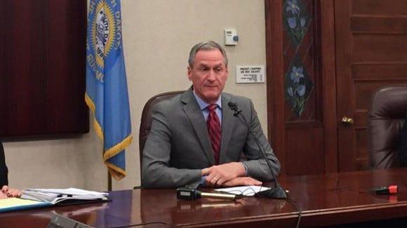 Gov. Dennis Daugaard discusses Medicaid expansion Monday,