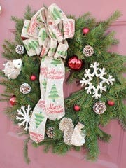 Wreath made by Three French Hens Holiday Decor.