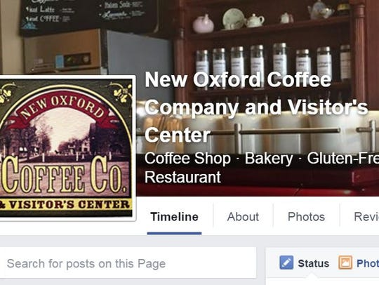 New Oxford Coffee Company keeps an active Facebook