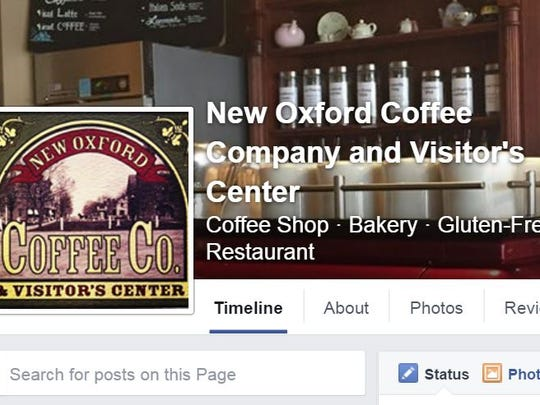 New Oxford Coffee Company keeps an active Facebook page as seen here to engage with its current and potential customers.