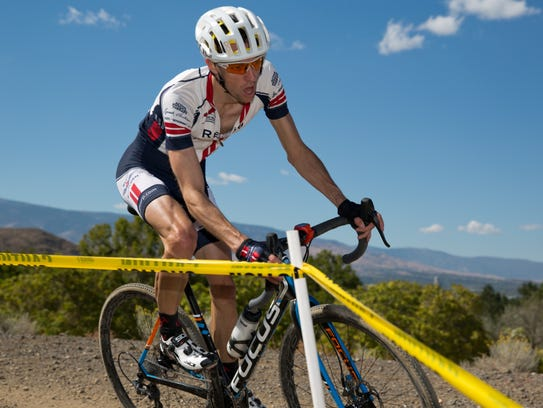 Justin Thomas competes in cyclocross race at Hidden
