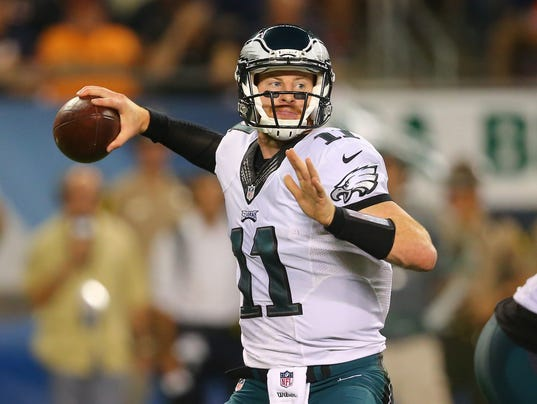 Eagles QB Carson Wentz is off to a 3-0 start. (Photo: Dennis Wierzbicki, USA TODAY Sports)