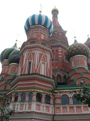 St. Basil's Cathedral, Moscow's architectural crown jewel.