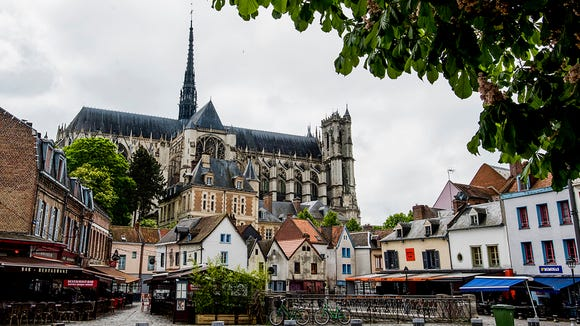 Amiens Cathedral dominates the old cityscape.