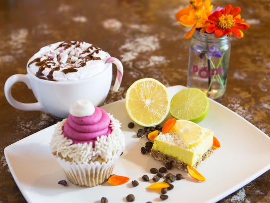 Pomegranate Cafe also offers vegan desserts, coffee