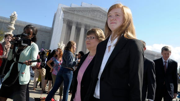 Abigail Fisher, left, caused a media storm when she