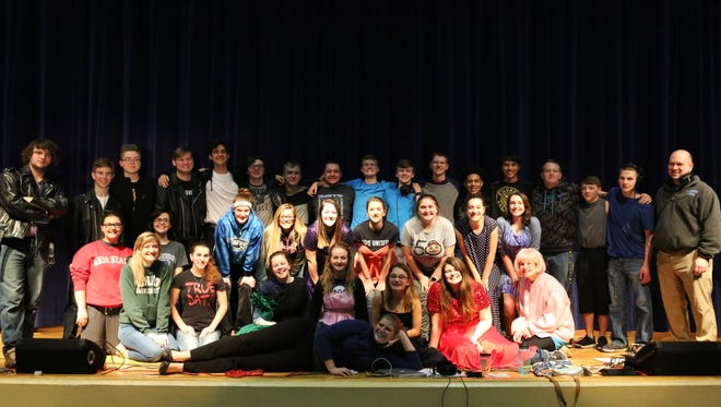 Students of Southeastern High School preparing to perform Grease the musical.[Photograph by Kirra Snyder]
